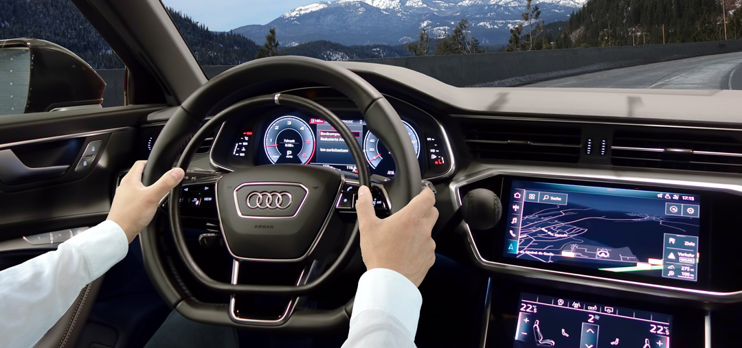 Audi A6 with hand accelerator and hand brake by Kempf