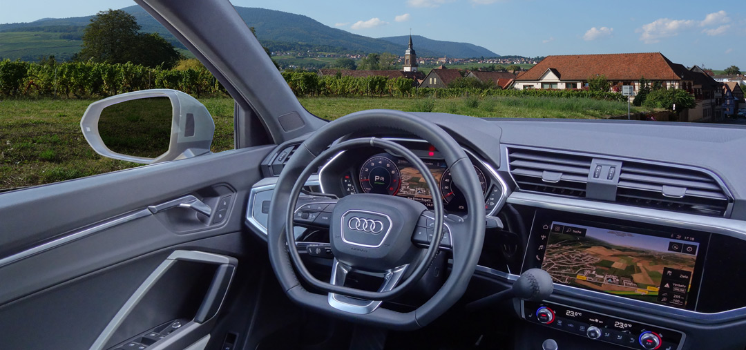 Audi Q3 with Darios digital hand controls for hand driven cars