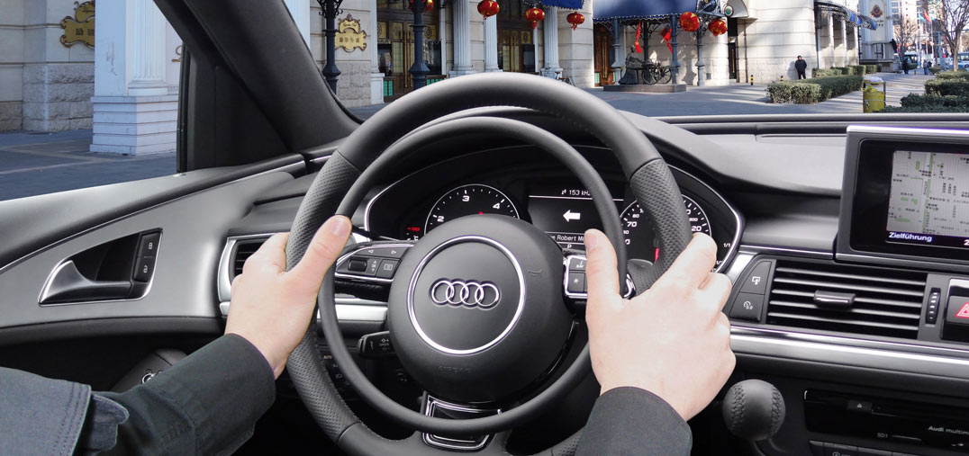 Audi A6 with car hand control for driver with disability