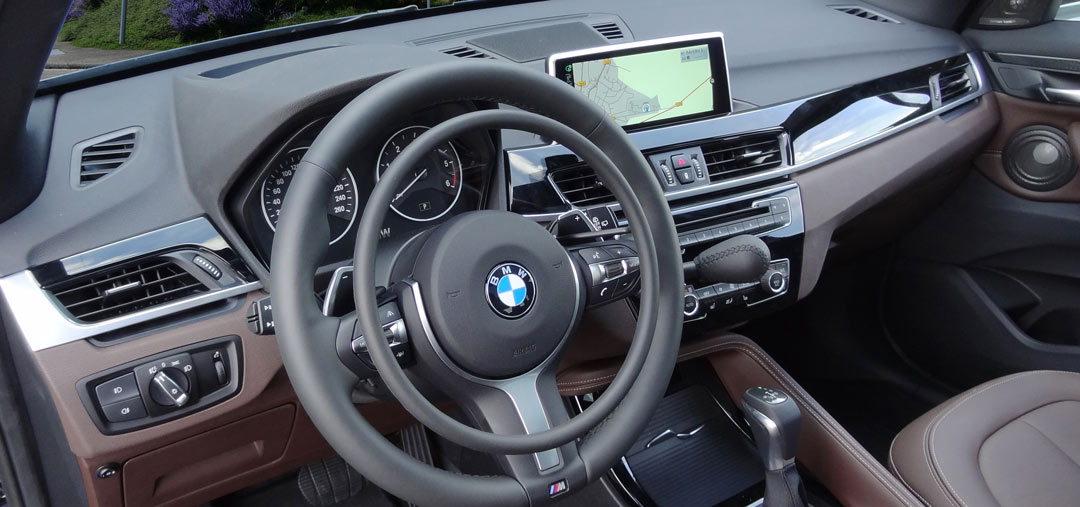 BMW X1 with Darios accelerator ring hand controls