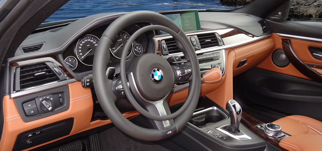 BMW 4-serie with digital hand controls for accelerator and mechanical hand brake