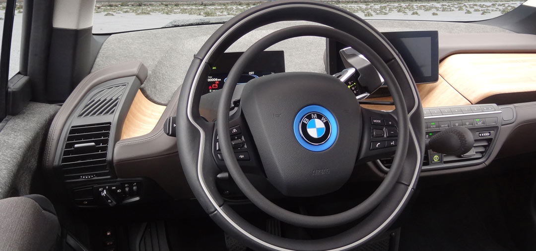 BMW i3 with Darios digital hand controls for cars