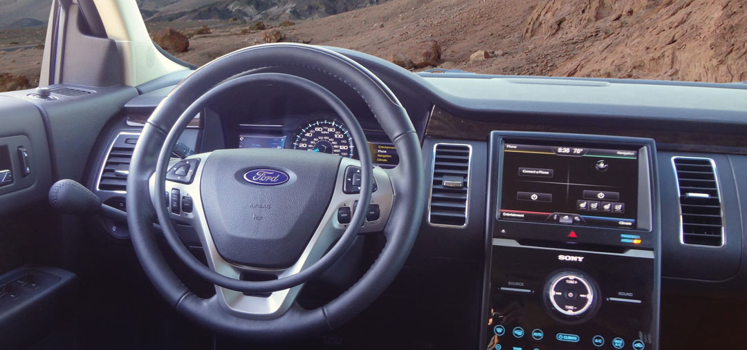Ford Flex with hand controls for disabled drivers