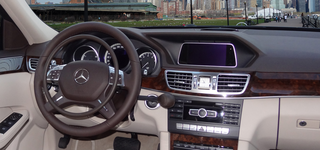 Mercedes E-Class with car hand controls for paraplegic driver
