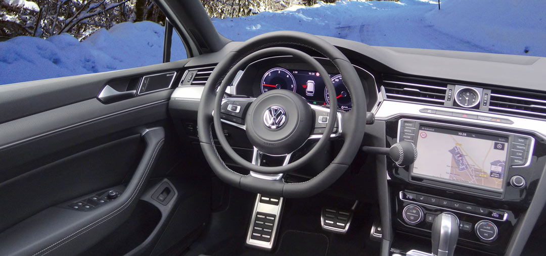 Volkswagen Passat equipped for paraplegic driver with digital hand controls