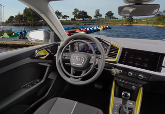 Audi A1 with car hand controls by Kempf