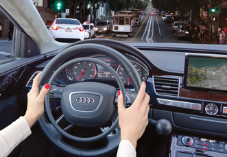 Audi A8L with digital hand controls for handicap driving