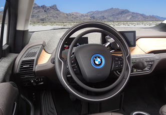 BMW i3 with digital hand controls Darios by Kempf
