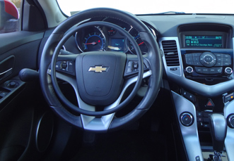 Chevrolet Cruze with digital hand controls