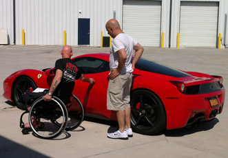 Darios and brake in Ferrari 458 Italia