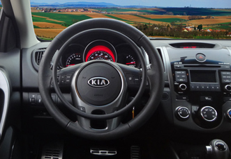 Kia Forte with hand controls for disabled drivers