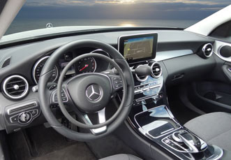 Mercedes C-Class with digital hand controls by Kempf