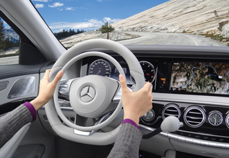 Mercedes S-Class with Darios hand controls for cars
