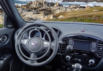 Nissan Juke with digital hand controls