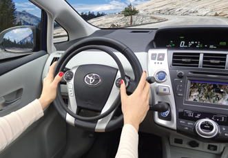Toyota Prius with hand controls by Kempf