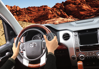 Toyota Tundra with digital hand controls for trucks