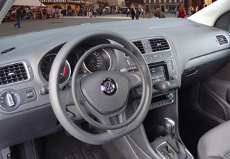 VW Polo with hand controls for accelerator and brake