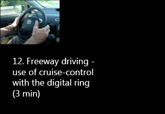 Freeway driving with digital accelerator ring