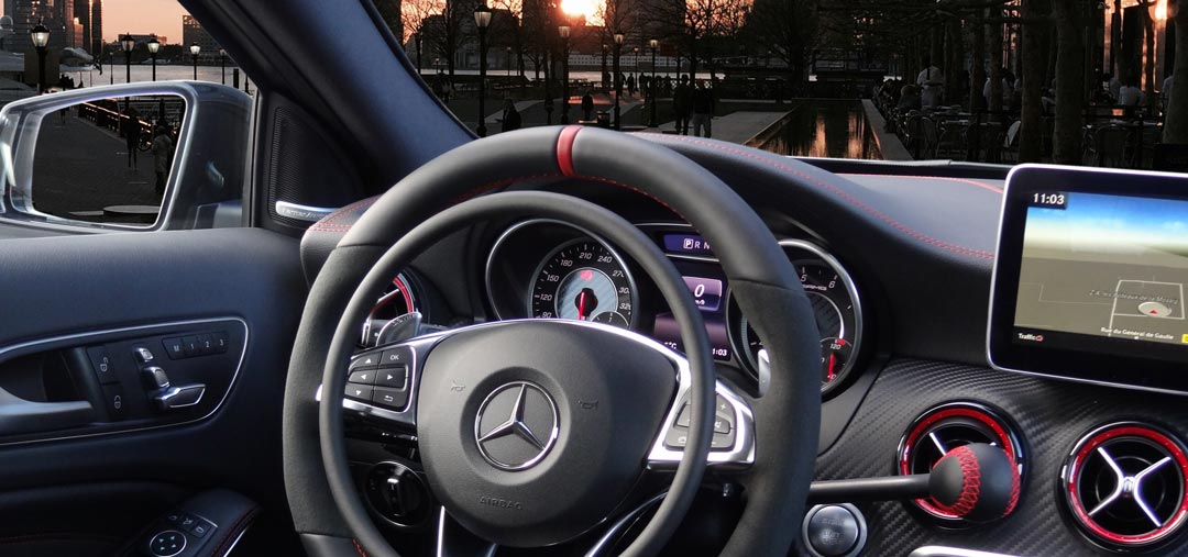 Mercedes AMG A-Class with digital hand controls by Kempf
